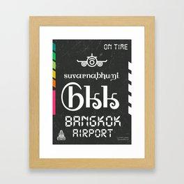 BKK Bangkok black Framed Art Print