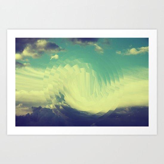 Circular sky Art Print