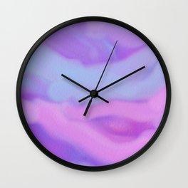 Modern abstract teal magenta violet watercolor pattern Wall Clock