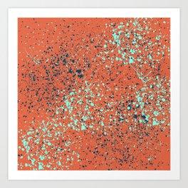 orange splatter paint Art Print