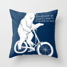 Listen to the Bear Throw Pillow