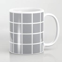 Grey Grid Pattern 2 Coffee Mug