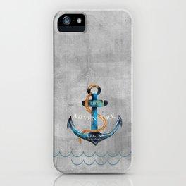 Maritime Design- Nautic Anchor Navy Marine Beach iPhone Case
