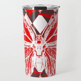 DECORATIVE RED & WHITE HARLEQUIN  PATTERN Travel Mug