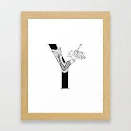 Mermaid Alphabet Series - Y Framed Art Print