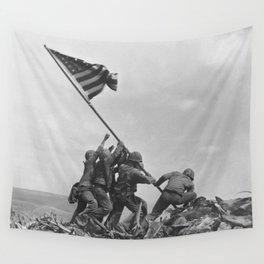 Raising The Flag On Iwo Jima Wall Tapestry