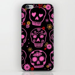 Mexican Pink Skulls iPhone Skin