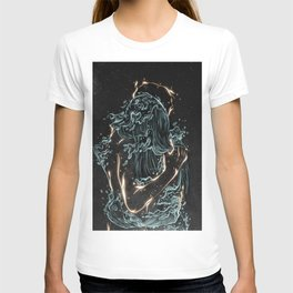 Water and fire. T-shirt