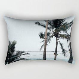 Palm Tree Silhouettes Rectangular Pillow