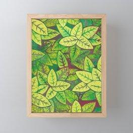 Spring leaves Framed Mini Art Print