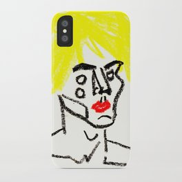 man with yellow hair iPhone Case