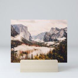 Amazing Yosemite California Forest Waterfall Canyon Mini Art Print