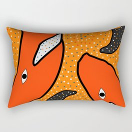 Whales - aboriginal Rectangular Pillow