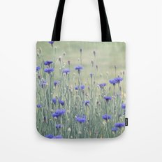 Field of Bachelor Buttons Tote Bag