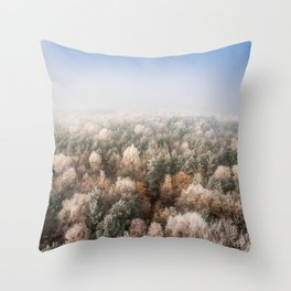 Vanish in the Snow Throw Pillow