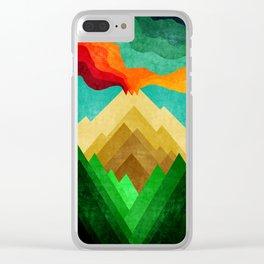 Vulcan Mountain Clear iPhone Case