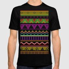 Colouful Aztec Mens Fitted Tee Black MEDIUM