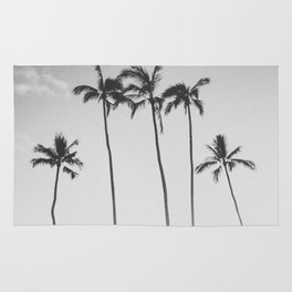 PALM TREES XII / Honolulu, Hawaii Rug