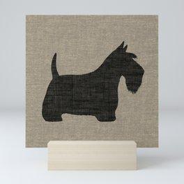 Scottish Terrier | Black Scottie Dog Silhouette Mini Art Print