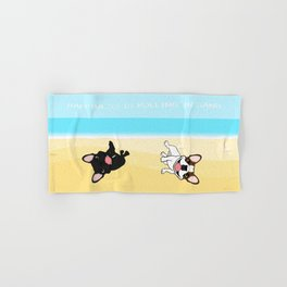 Frenchies Rolling In The Sand Hand & Bath Towel