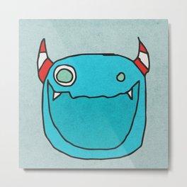 Slightly Amused Monsters, XV Blue Metal Print