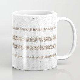 Vintage Farmhouse Grain Sack - Sandstone Stripes Coffee Mug