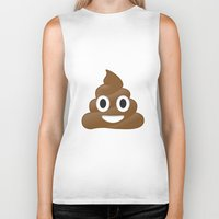 emoji Biker Tanks featuring Emoji Poo by Emojis on Mugs, Tshirts, Phone Cases & M