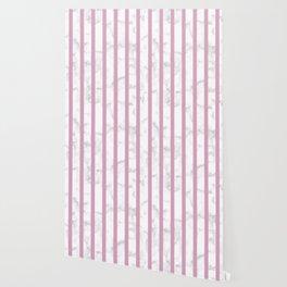 marble vertical stripe pattern baby pink Wallpaper