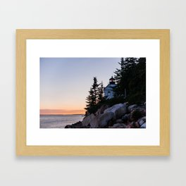 bass harbor head lighthouse, acadia national park Framed Art Print