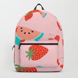 Fruit Salad (Pastel Pink) Backpack