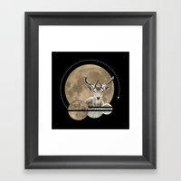 Real. Reindeer. Framed Art Print