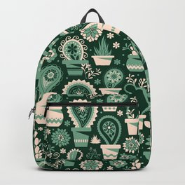 Paisley succulents Backpack