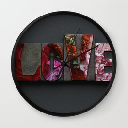 Floral LOVE Wall Clock