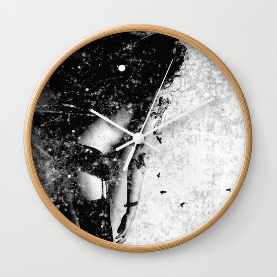 Nude art - time Wall Clock