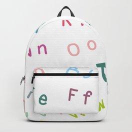 An Alphabet Backpack