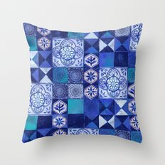 Mosaic Tile Throw Pillow