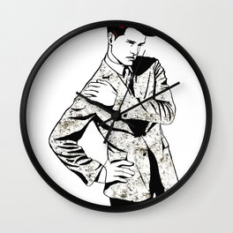 Boy with Red Hair Wall Clock