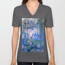 Water Lilies Monet Unisex V-Ausschnitt