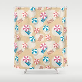 Chilling at the Beach Shower Curtain