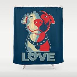 Pitbull - Love Shower Curtain