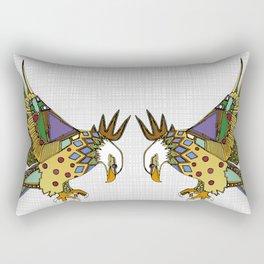 jewel eagle white Rectangular Pillow