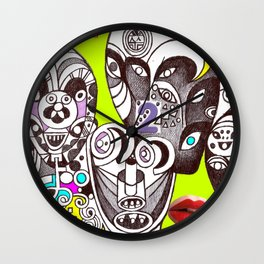 Noesis in India (collage fine artwork) Wall Clock