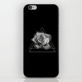 Rose Black and White iPhone Skin