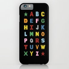 Alphabet on Black iPhone 6s Slim Case