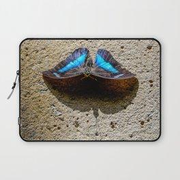 Blue Morpho Butterfly by Teresa Thompson Laptop Sleeve