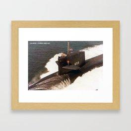 USS HENRY L. STIMSON (SSBN-655) Framed Art Print