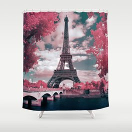 Eiffel gum Shower Curtain
