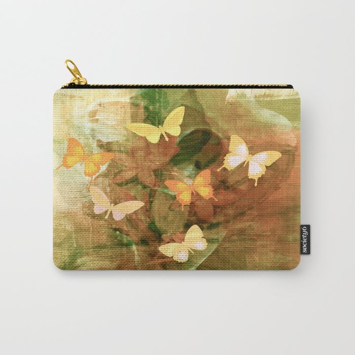 Vintage Autumn Painterly Butterflies  Carry-All Pouch