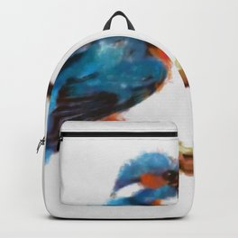 Kingfisher - watercolor (signed) Backpack