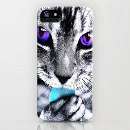 Purple eyes Cat iPhone Case